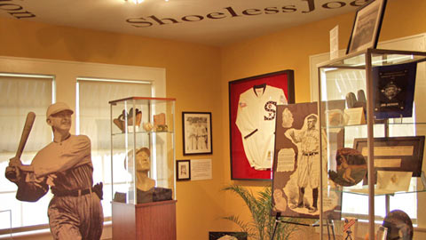 The Shoeless Joe Jackson Museum opened in Greenville in 2008.