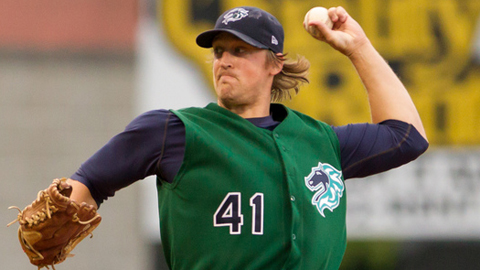 Charles Leesman helped Charlotte tie for the International League lead in ERA.